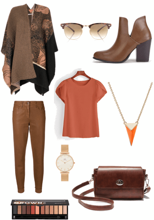 Fall in lovely brown