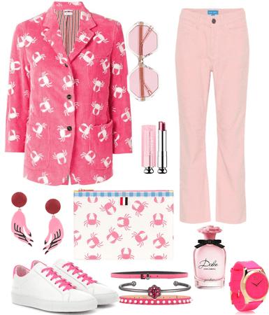 blazer week-Pink corduroy