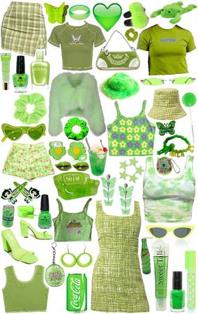 green y2k wishlist 🖤💚🖤