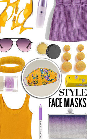purple yellow face mask