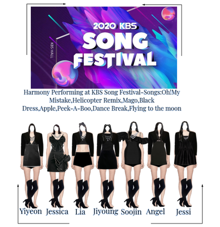 Harmony 2020 KBS Song Festival Outfits
