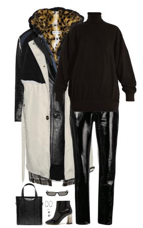 how to rock the balenciaga layered coat