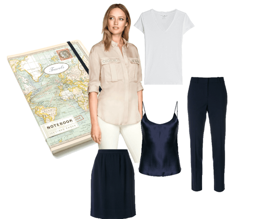 Basic clothing pieces for travel