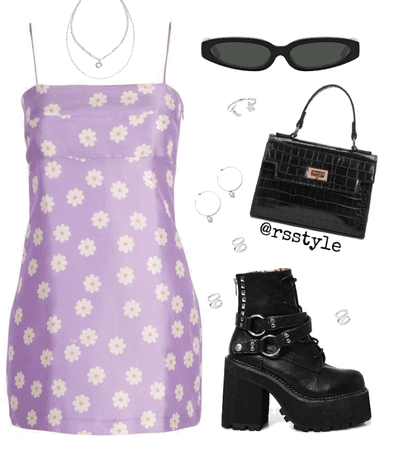 Spring purple outfit