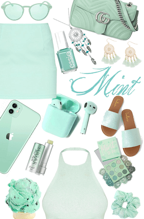 Mint colored