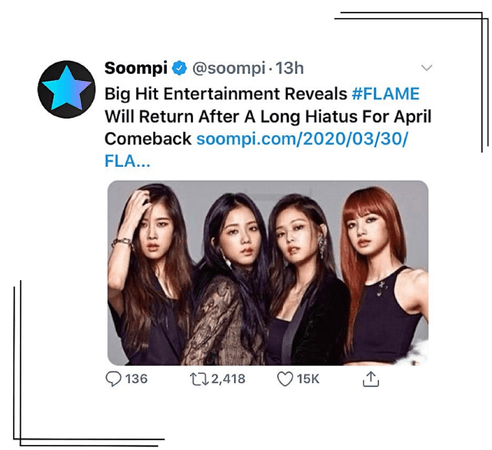 Soompi—FLAME April comeback announcement