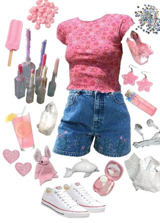 y2k bubblegum pink