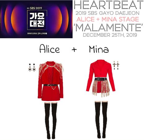 [HEARTBEAT] 2019 SBS GAYO DAEJEON | ALICE + MINA STAGE 'MALAMENTE'
