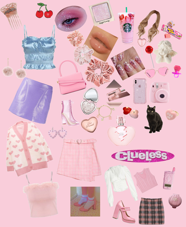pink aesthetic clueless oufeets