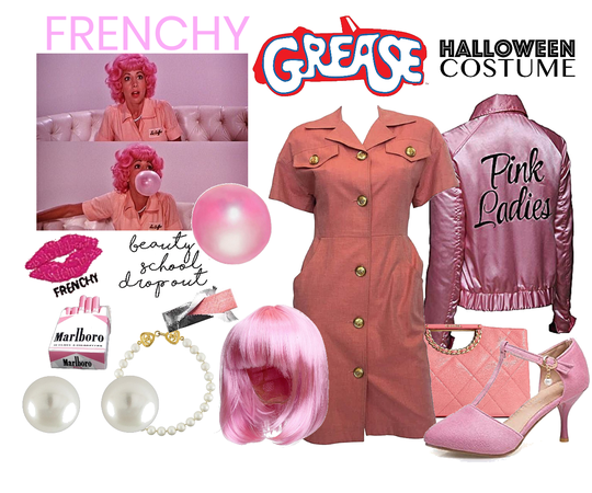Halloween costume grease - Frenchy
