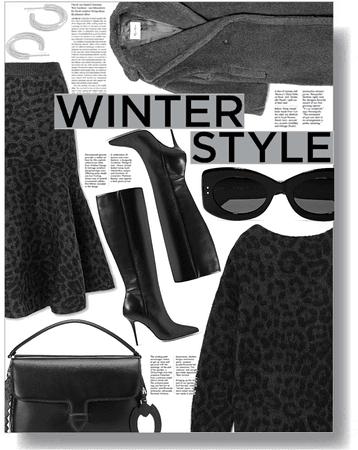 winter chic 🖤