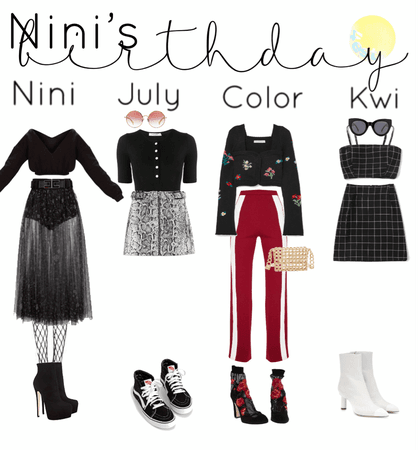 nini's birthday vlive outfits