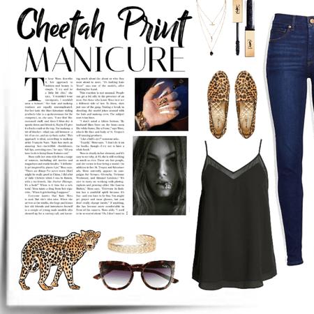 cheetah print nails and shoes