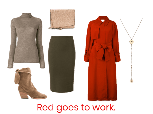 Red does coats.