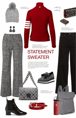 statement sweater for 2 occasions