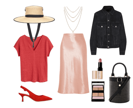 Summer outfit for inverted triangle body type