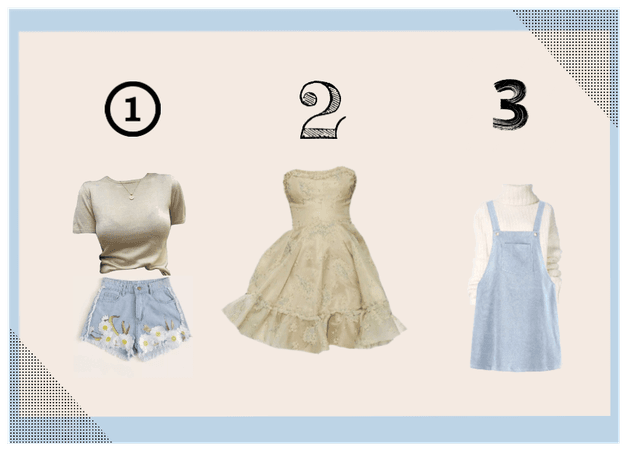 pastel blue summer outfit choice