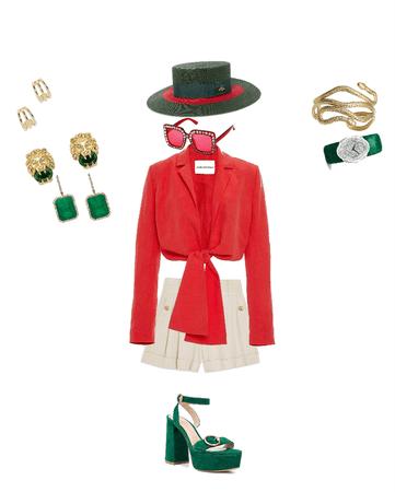 red & green glory