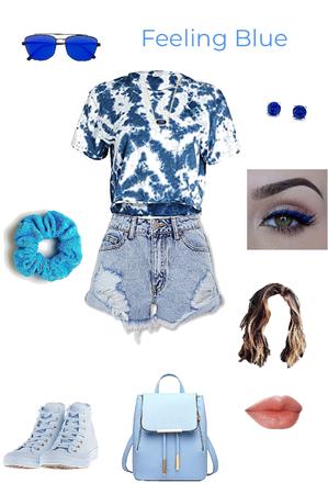 Monochrome blue outfit 💙