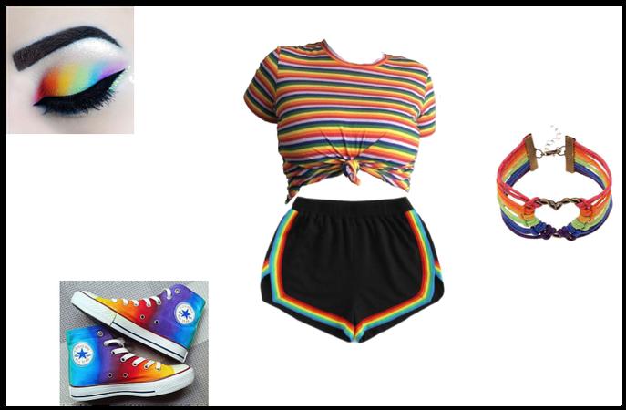 rainbow casual