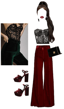 velvet and lace