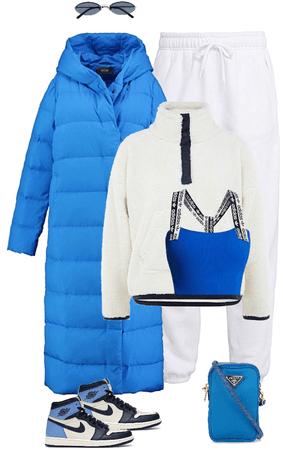 snowy blue