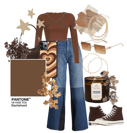 brown themed fit