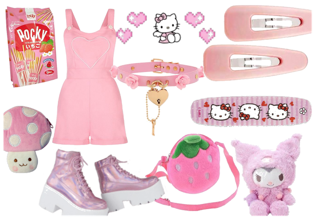 kawaii light pink