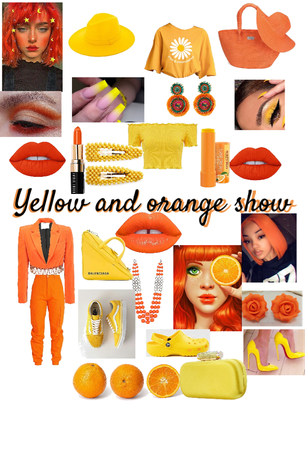 yellow and orange show