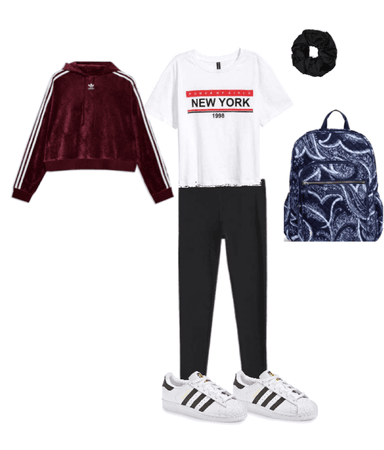 burgundy and white and black