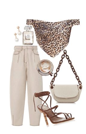 leopard corset