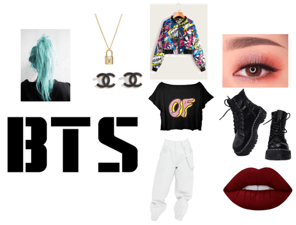 BTS DNA inspired outfit female ver