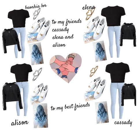 4 best friends outfit