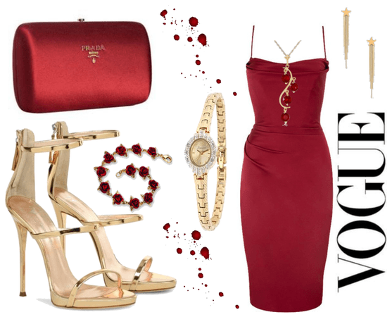 first date in a red dress