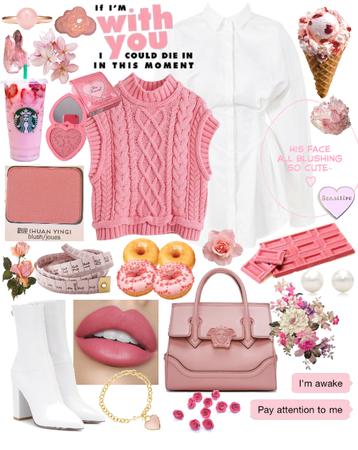 sweater vest pink