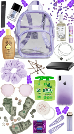 Whats in my bag (lilac outfit)