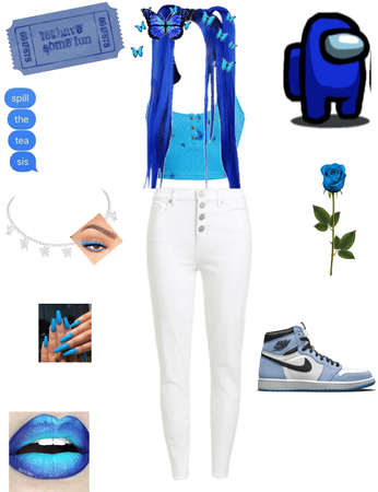 blue outfit my favorite  color 💙💙💙💙💙