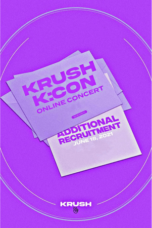 KRUSH Online Concert K:CON Poster