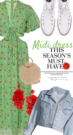 style a midi dress: this season's must have