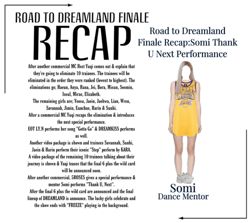 Road To DreamLand Finale Recap Somi Performance