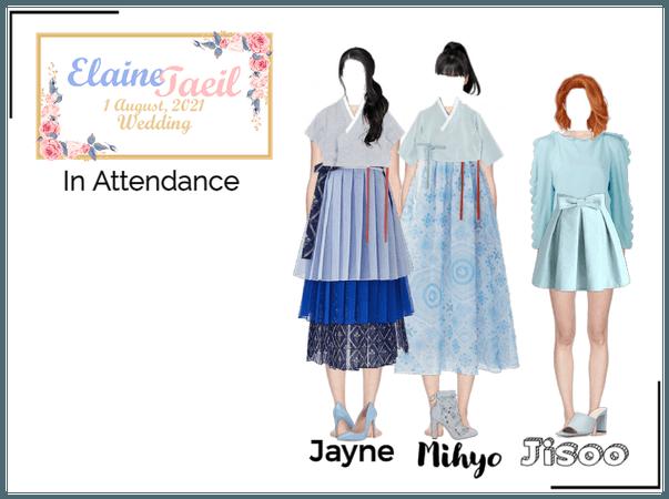 Jayne, Mihyo, & Jisoo at Elaine & Taeil's Wedding