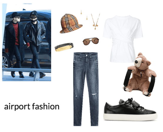 8th member bts airport fashion