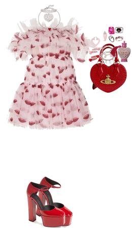 Valentine's Day Look One: Cutesy and Extra