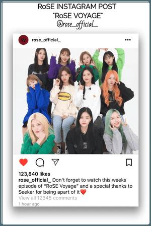 {RoSE} Official Instagram Post