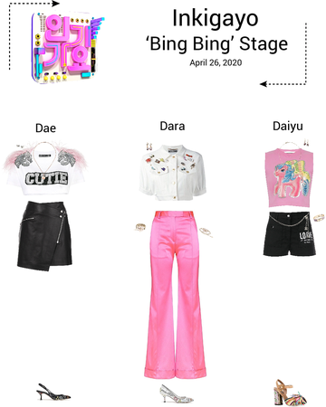 {3D}'Bing Bing' Inkigayo Stage