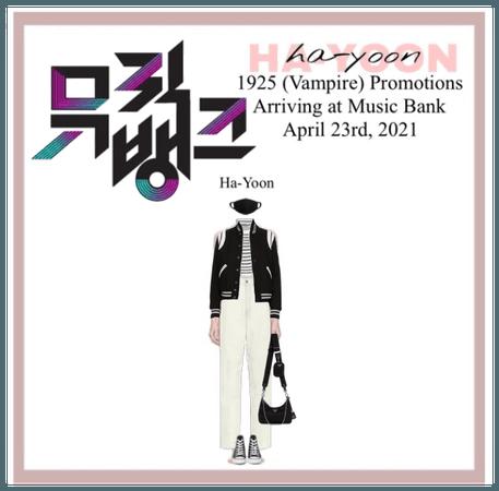 /HA-YOON/ Arriving at Music Bank