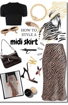 Satin Midi Skirt Style