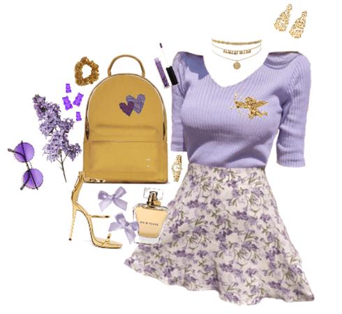 leo: purple&gold