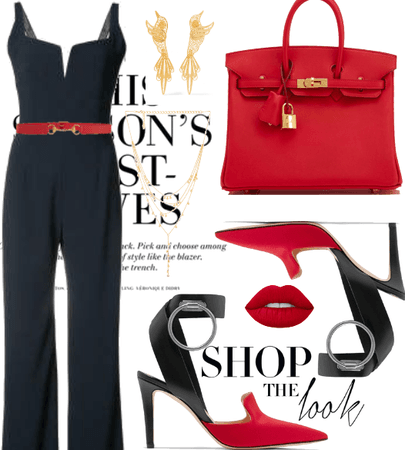 Jumpsuit and Red.