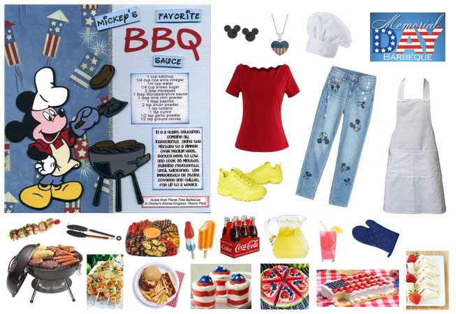Mickey Mouse Memorial Day BBQ outfit - Disneybound